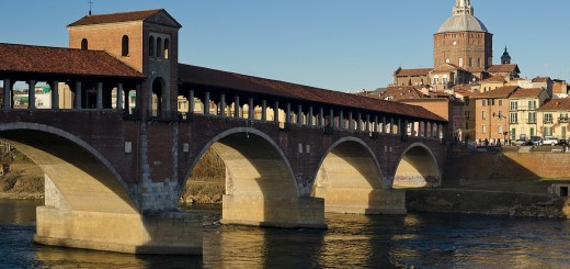 Ponte coperto e Duomo di pavia